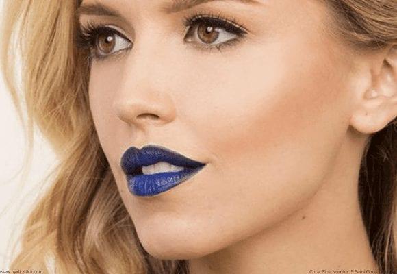 Semi Lipstick Blue Gloss Number Coral 5