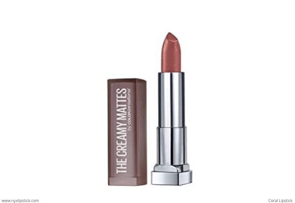 Maybelline New York Color Sensational Nude Lipstick Matte Lipstick, Nude Coral