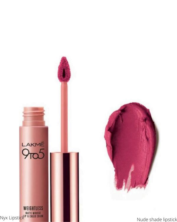 Nude shade lipstick