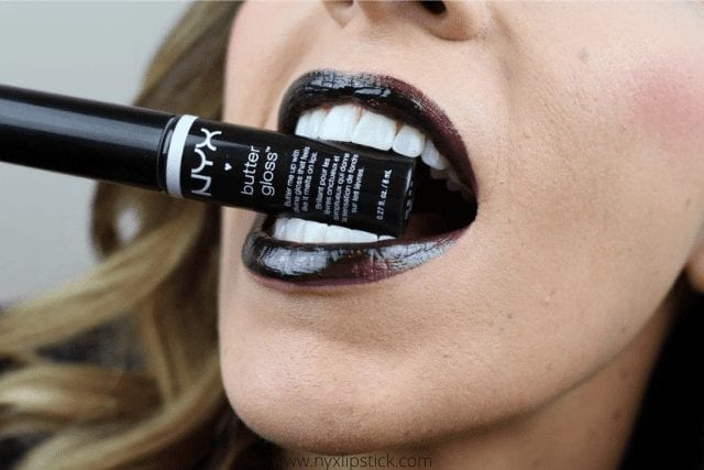 Nyx Butter Gloss Blackberry Pie Black Lipstick Review & My Experience