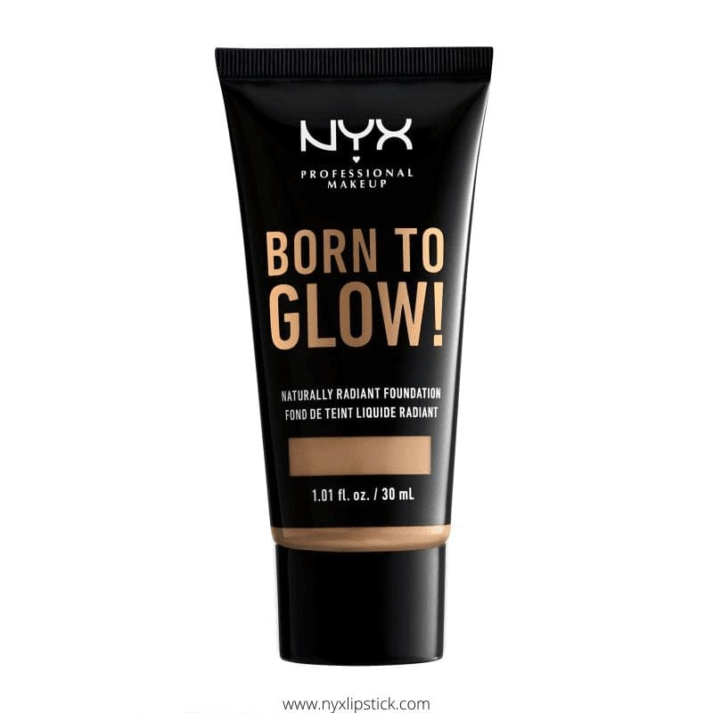 Nyx Born To Glow Foundation Review: Naturally Radiant Foundation Swatches